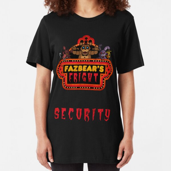 Five Nights at Freddy's - FNAF 3 - Fazbear's Fright Security Slim Fit T-Shirt
