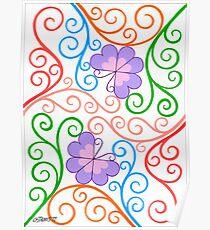 Romantic Butterflies - Brush And Gouache Poster