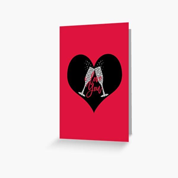 Champagne Valentine Greeting Card