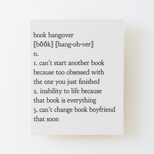 book hangover Wood Mounted Print