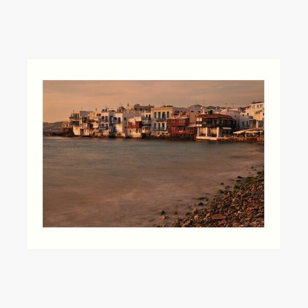 Little Venice, Mykonos Art Print