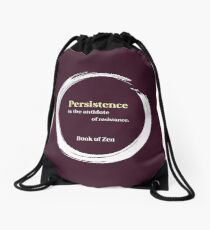Quote About Motivation & Persistence Drawstring Bag
