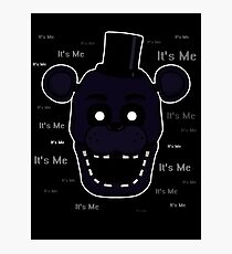 Five Nights at Freddy's - FNAF 2 - Shadow Freddy - It's Me Photographic Print