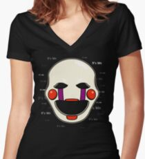 Five Nights at Freddy's - FNAF 2 - Puppet - It's Me Women's Fitted V-Neck T-Shirt