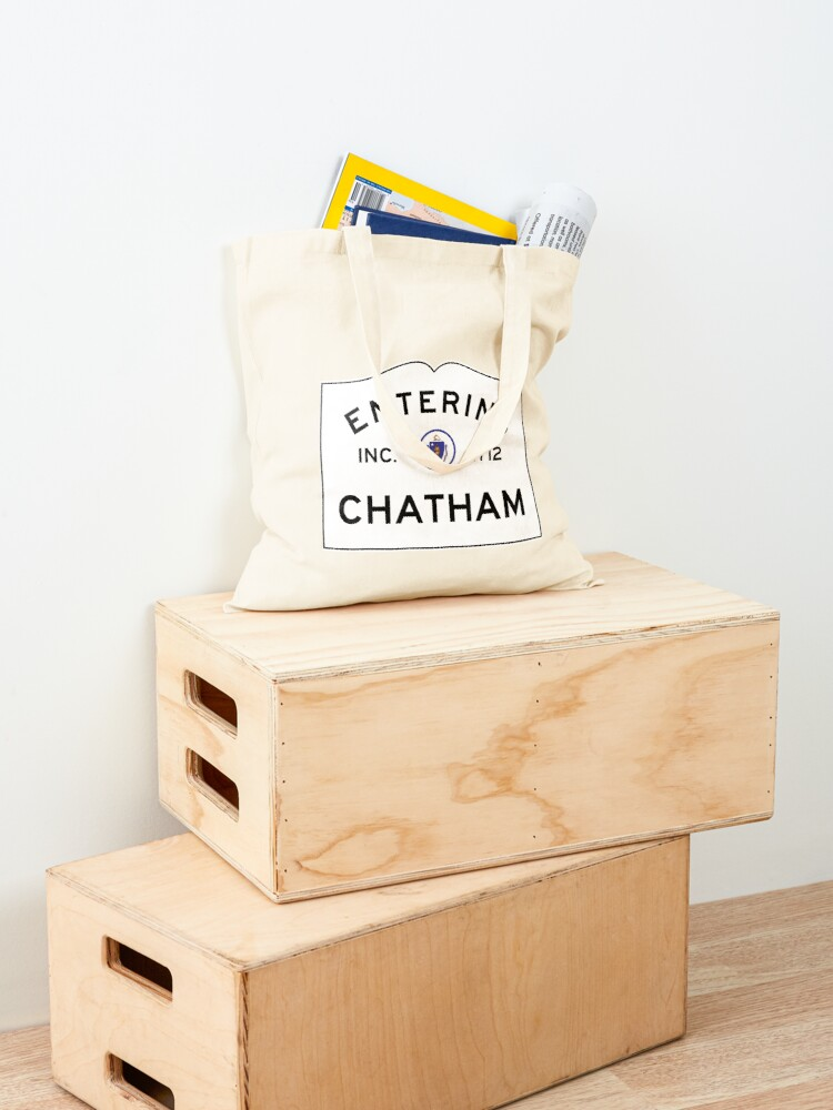Alternate view of Entering Chatham - Commonwealth of Massachusetts Road Sign Tote Bag