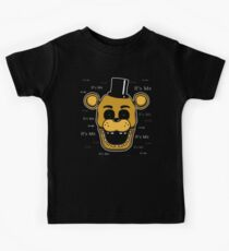 Five Nights at Freddy's - FNAF - Golden Freddy - It's Me Kids T-Shirt