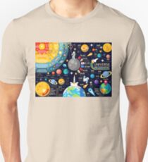 Space Universe Infographics Big Bang Unisex T-Shirt