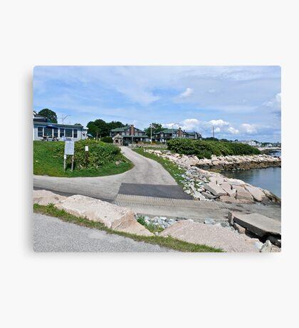 Monahan's Dock And Exit Road - Narragansett RI Canvas Print