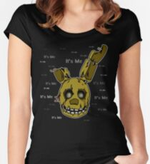 Five Nights at Freddy's - FNAF 3 - Springtrap - It's Me Women's Fitted Scoop T-Shirt
