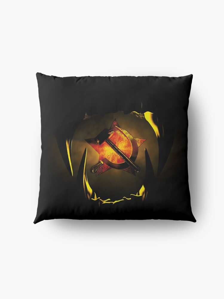 Alternate view of hammer and sickle Floor Pillow