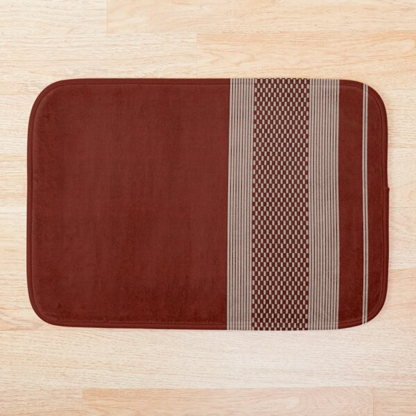 patterned red fabric Bath Mat