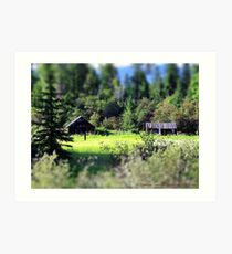 Whitefish Homestead (Montana, USA) Art Print