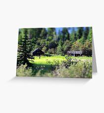Whitefish Homestead (Montana, USA) Greeting Card
