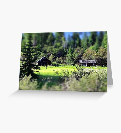Whitefish Homestead (Montana, USA) Greeting Card