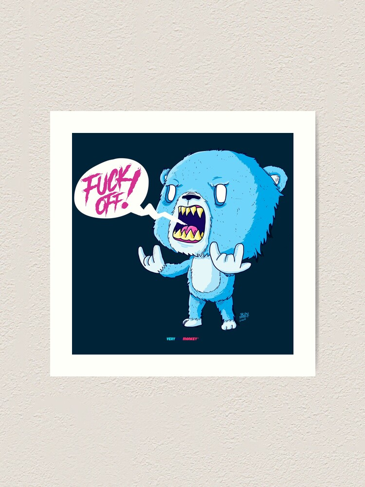 Vista alternativa de Lámina artística F**K OFF! by Fran Ferriz