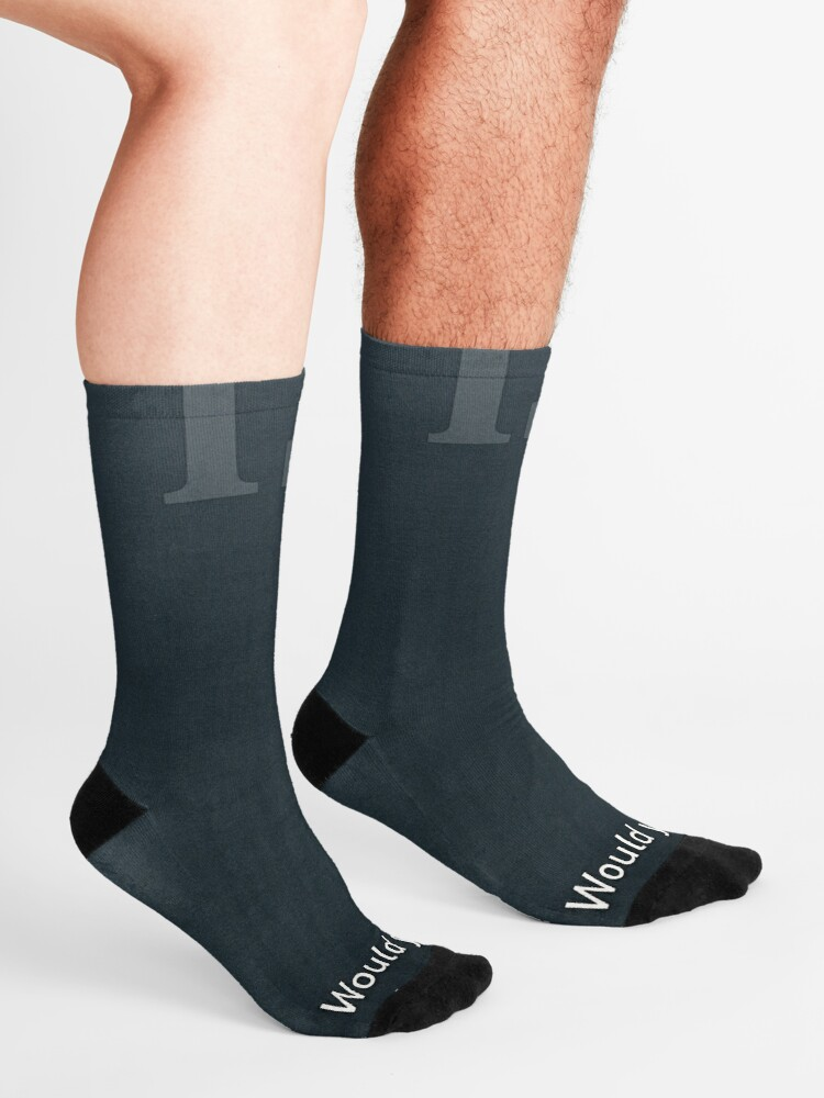 Alternate view of Would You Rather Be An Unknown Superhero or a Famous Villain Socks