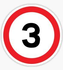 Speed Limit 3 Road Sign Sticker