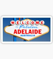 Welcome to Fabulous Adelaide Sign Sticker