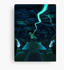God of Thunder and Rock n' Roll Canvas Print