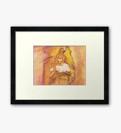 Pretty Ballerina Framed Print