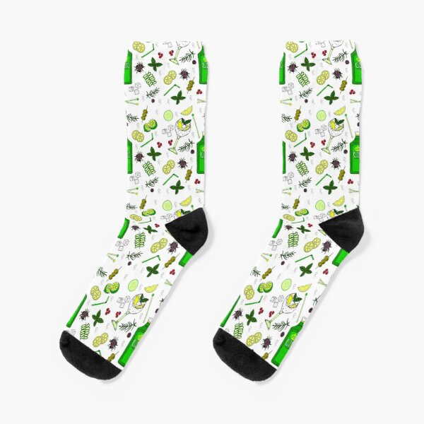 Gin and Tonic Pattern Gin o'Clock Cocktail Glasses Socks