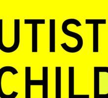 Autistic Child Yellow Diamond Warning Road Sign Sticker Sticker