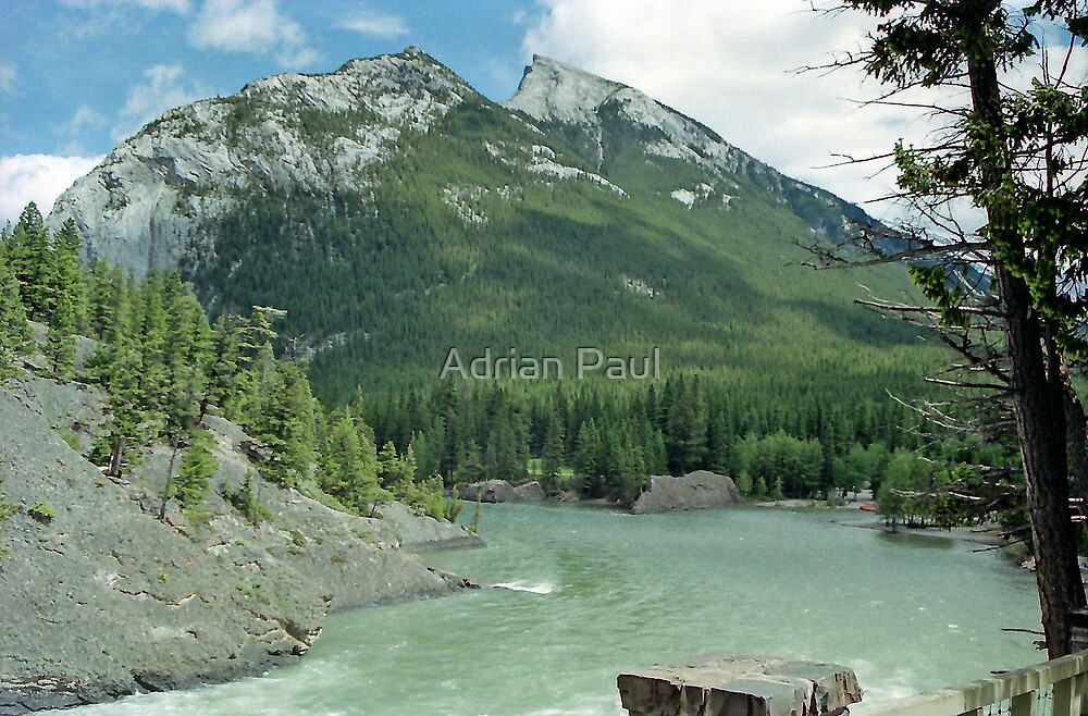 The Bow River, Banff, Alberta, Canada by Adrian Paul