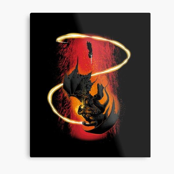 The Wizard & The Demon Metal Print