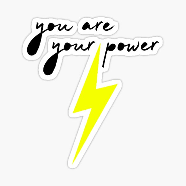 You Are Your Power (yellow) Sticker