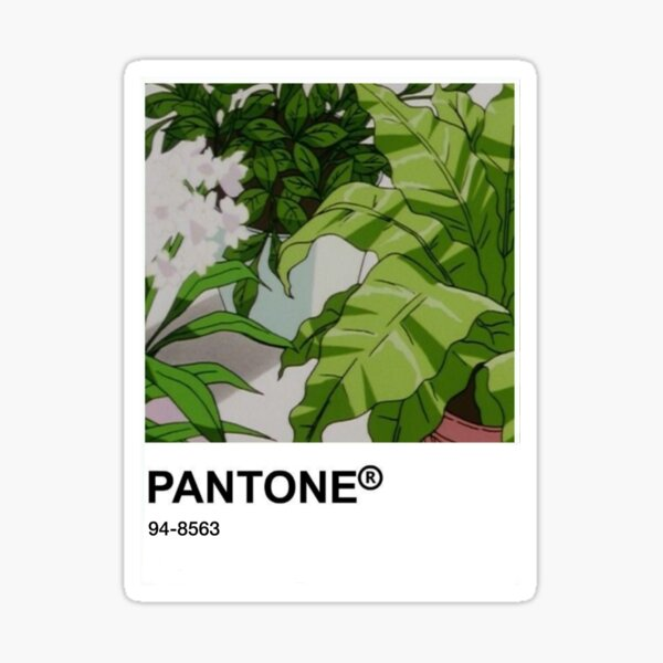 Scène d'anime Kawaii Pantone Sticker