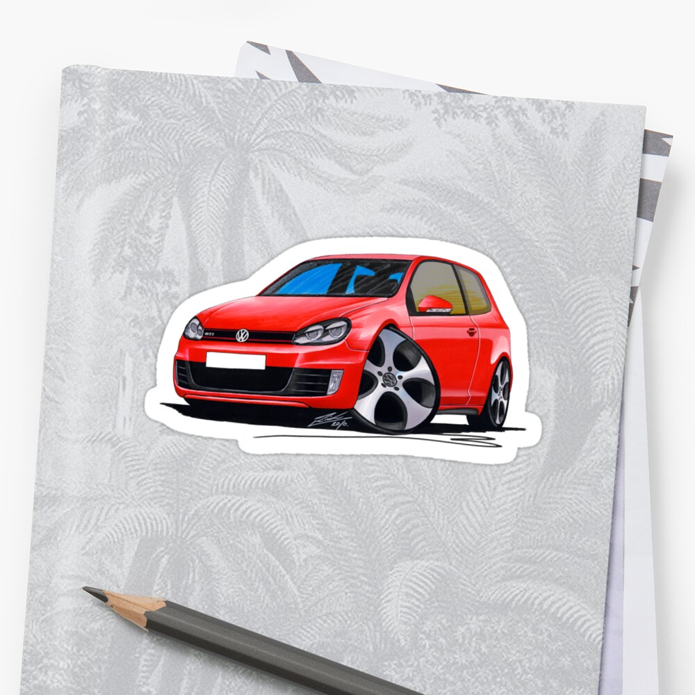 VW Golf GTi (Mk6) Red by yeomanscarart