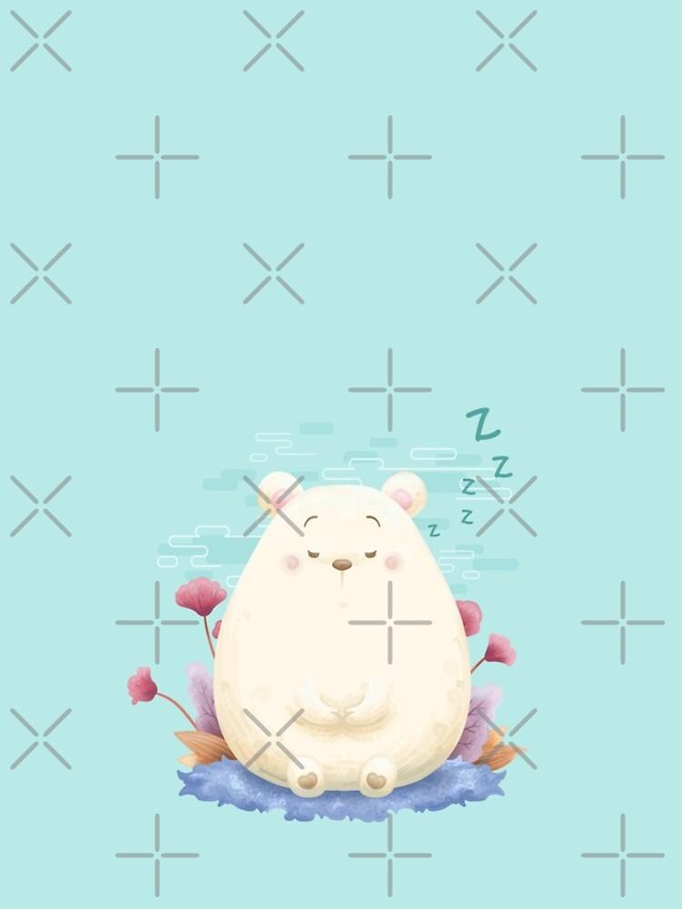 Sleeping meditation bear by Khotekmei