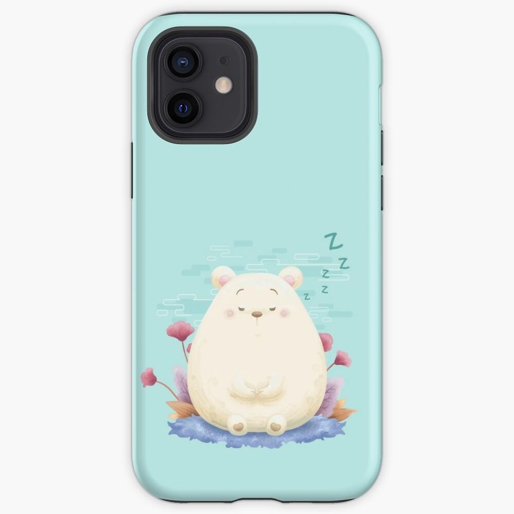 Sleeping meditation bear iPhone Case & Cover