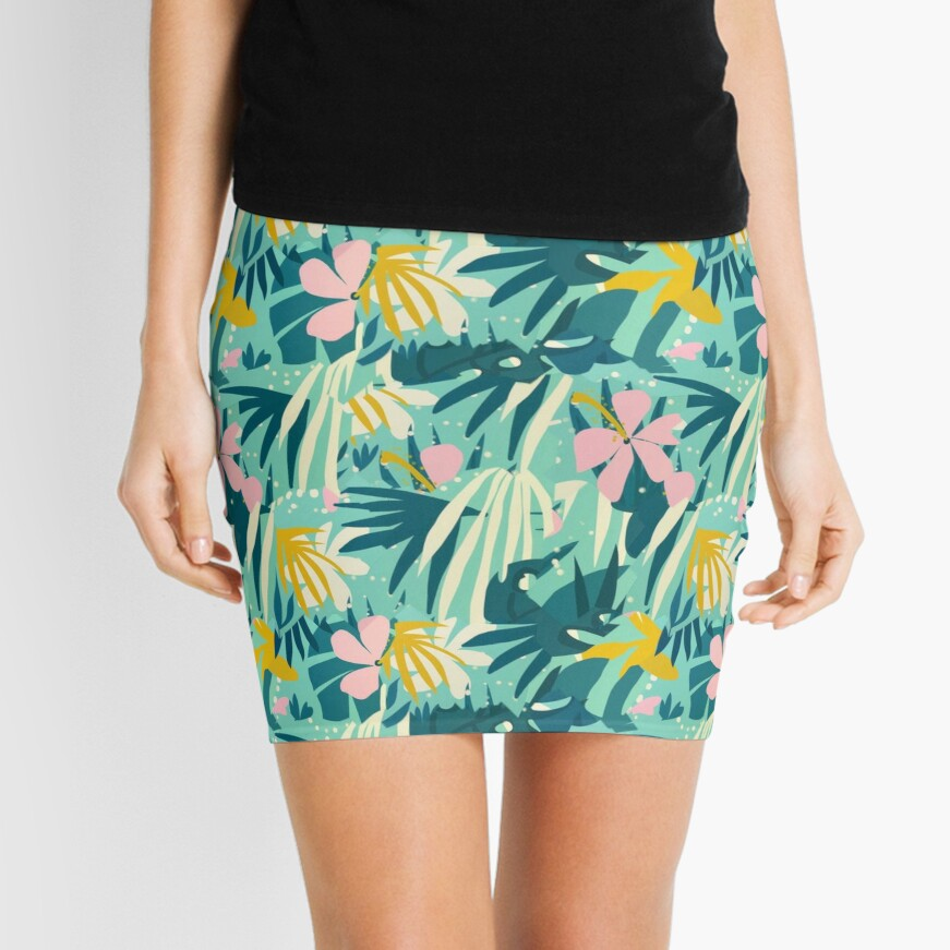 Not All Those Who Wander Are Lost #painting #tropical Mini Skirt