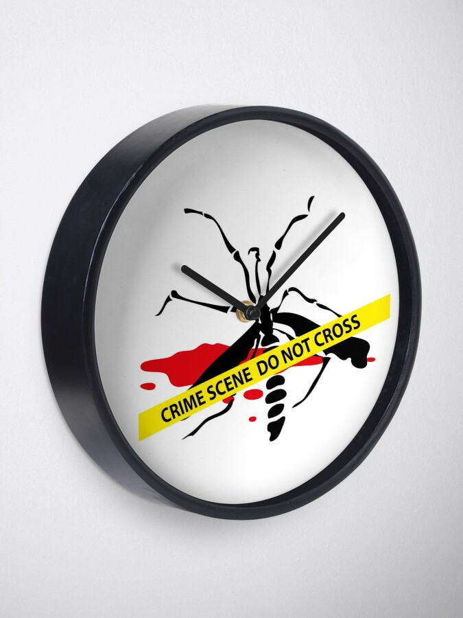 Alternate view of Crime scene mosquito Clock