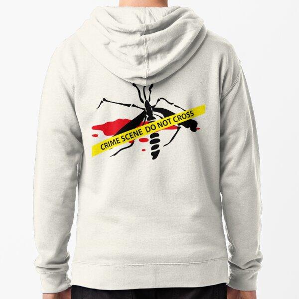 Crime scene mosquito Zipped Hoodie