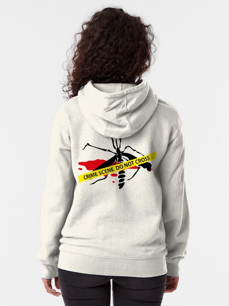 Alternate view of Crime scene mosquito Zipped Hoodie