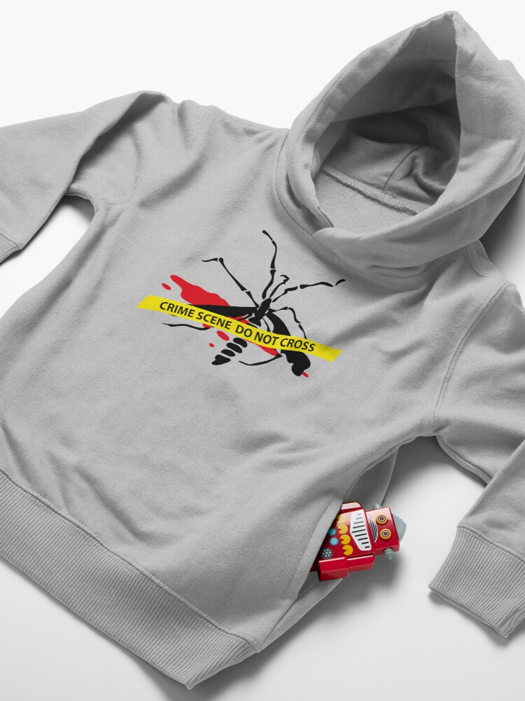 Alternate view of Crime scene mosquito Toddler Pullover Hoodie