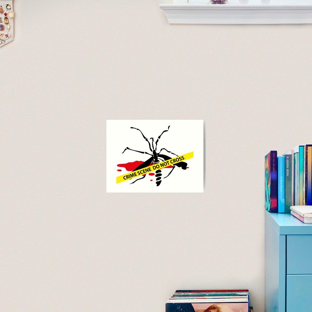 Crime scene mosquito Art Print