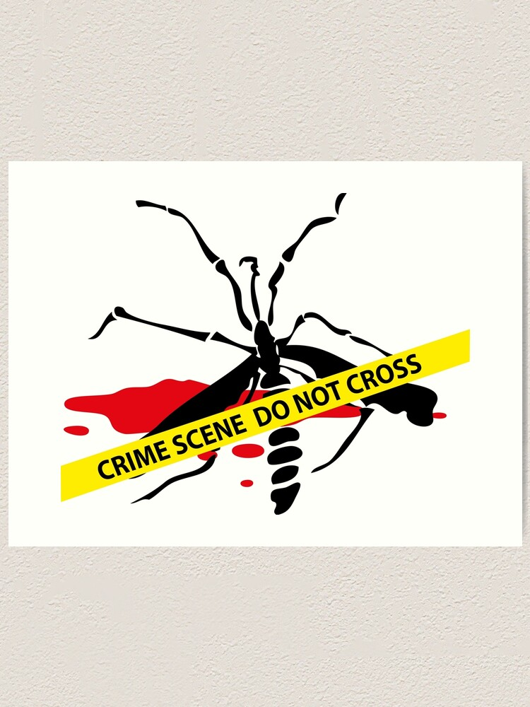 Alternate view of Crime scene mosquito Art Print