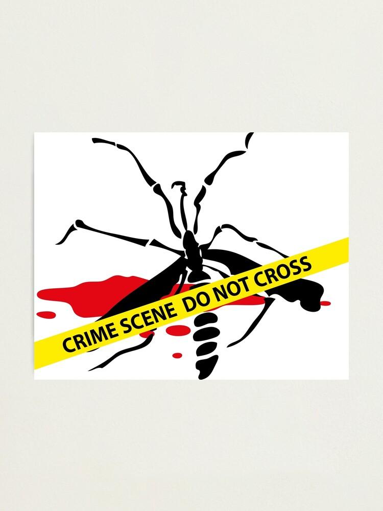 Alternate view of Crime scene mosquito Photographic Print