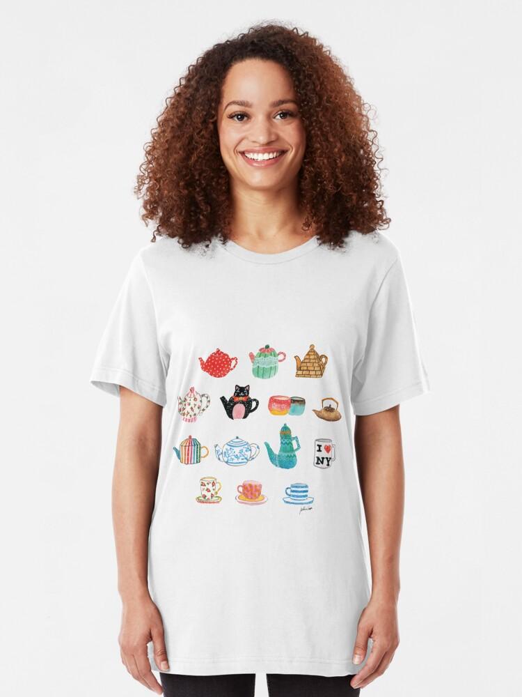 Alternate view of Tea Time Slim Fit T-Shirt
