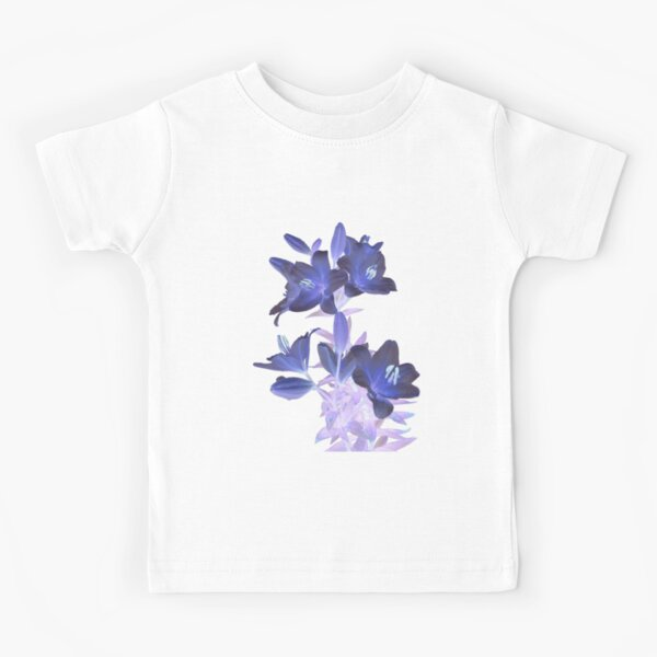 Lilies on a White Background Kids T-Shirt