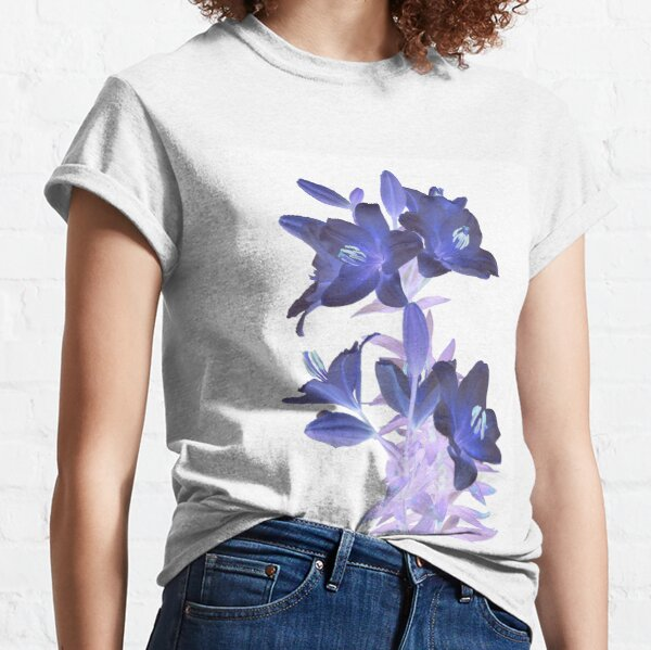 Lilies on a White Background Classic T-Shirt