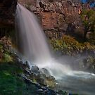 Paddys River Falls, Rainbow on the Side by bazcelt