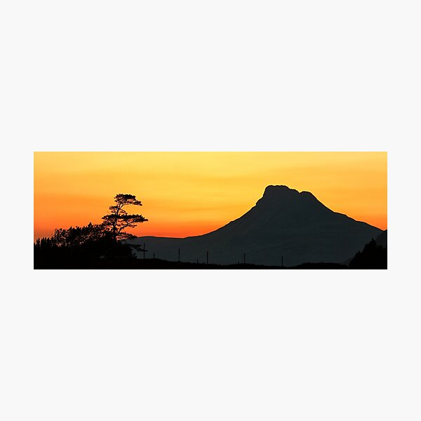 Stac Polly Mountain Sunset Photographic Print