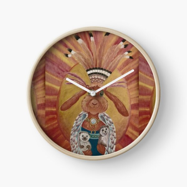 The Great Feathered Rabbit and Happy Hedgehogs Clock