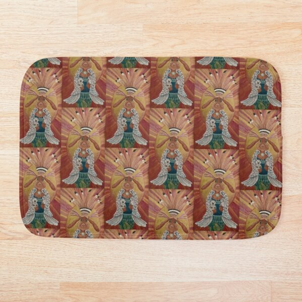 The Great Feathered Rabbit and Happy Hedgehogs Bath Mat
