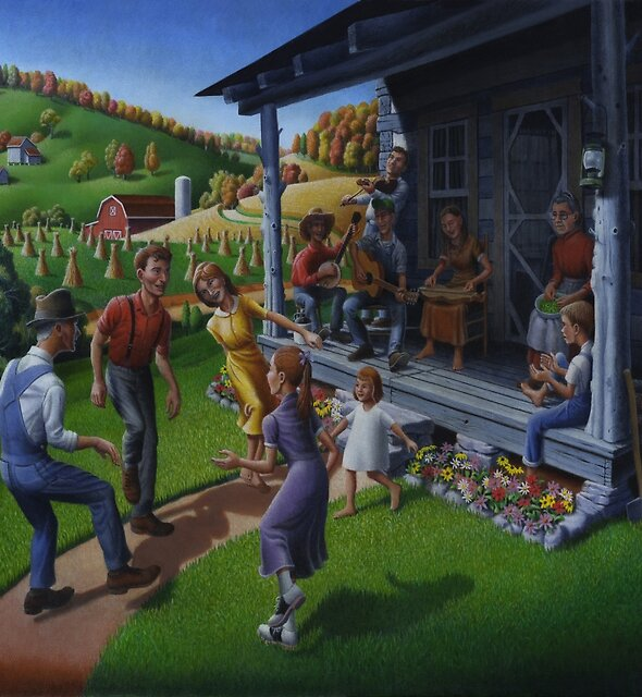 Porch Music and Flatfoot Dancing - Mountain Music by Walt Curlee