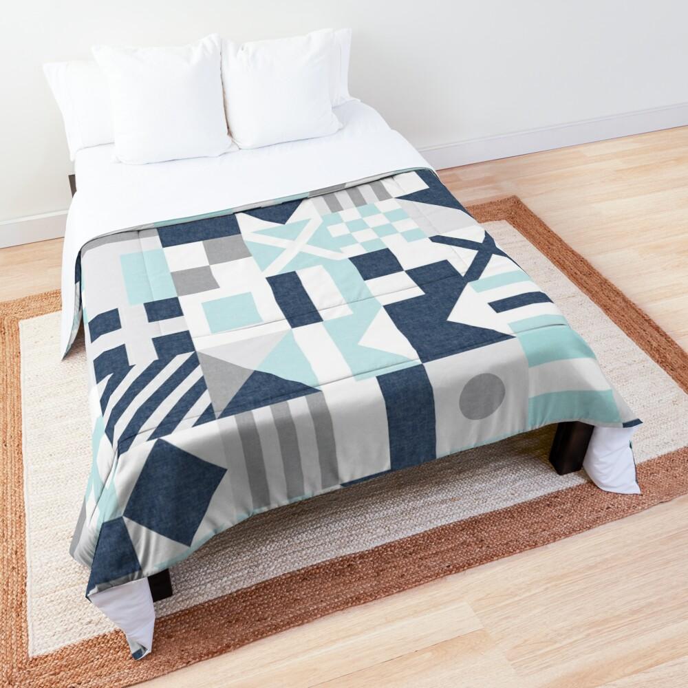 Nautical Flags - maritime blue Comforter